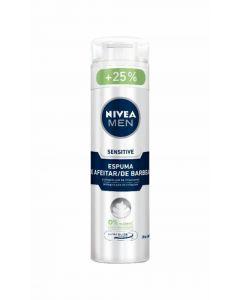Espuma de afeitar sensitive nivea 250 ml
