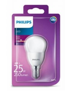 Bombilla led esfera color calido philips e14 25w