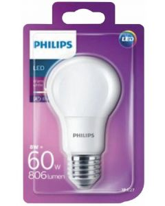 Bombilla led color calido philips e27 60w