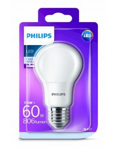 Bombilla led color neutro philips e27 60w