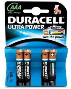 Pilas alcal.duracell ultra power aaa lr03 k4