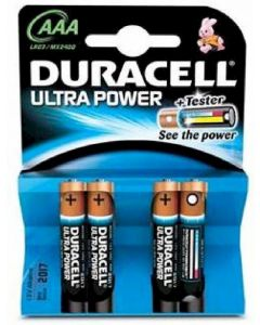 Pilas alcal.duracell ultra power aaa lr03 k4