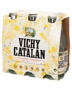 Agua mineral con gas vichy catalan botella pack de 6 unidades de 25cl
