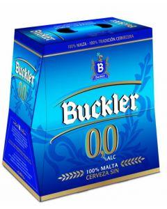 Cerveza sin alcohol 0,0%  buckler  p6x25cl