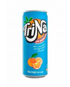 Refresco  naranja trina lata 33cl