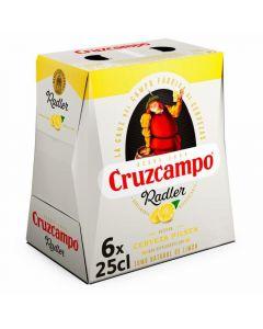 Cerveza radler cruzcampo botella pack de 6 unidades de 25cl