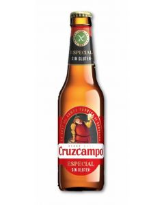 Cerveza sin gluten cruzcampo botella 33cl