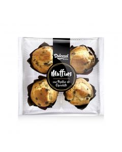 Muffins con pepitas chocolate dulcesol p-4 x 75gr