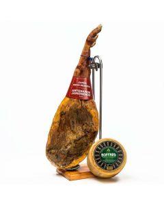 Lote:jamon gran reserva artesanos jamoneros pza 7 a 8k + queso boffard artesano pza 3k aprox