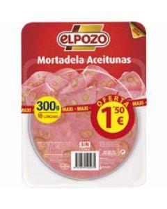 Mortadela con aceitunas el pozo lonchas 250 gr