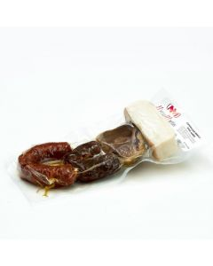 Chorizo iberico , morcilla iberica  y hueso de jamon iberico para guiso nieto martín 480g