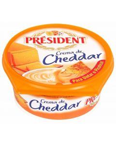 Crema de queso cheddar president 125 gr