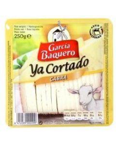 Queso cabra ya cortado g. baquero cuña 250 gr