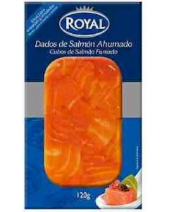 Salmon ahumado dados royal 120 gr