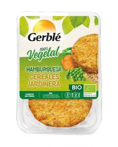 Hamburguesa vegetal bio cereales jardinera gerble 160 gr