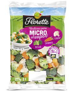 Verduras microondas coliflor/zanahoria/calabacin florette 350gr
