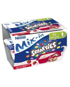 Yogur smarties de fresa nestlé pack de 2 unidades de128g