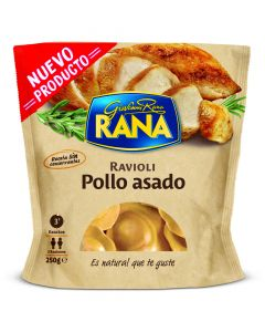 Pasta fresca rellena ravioli pollo asado rana 250 gr