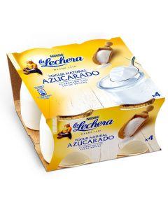 Yogur natural azucarado la lechera pack de 4 unidades de 125g