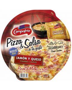 Pizza fresca jamon y queso  campofrio 360 gr