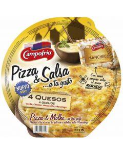 Pizza fresca 4quesos s.manchega campofrio 365