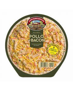 Pizza 5 cereales pollo y bacon  tarradellas 410 gr