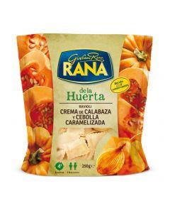 Pasta fresca rellena crema de calabaza y cebolla caramelizada rana 250 gr