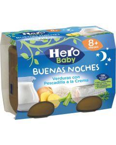 Tarrito de crema de pescado hero buenas noches pack de 2 unidades de 200g