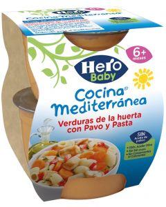 Tarrito c.medit verd pavo pasta hero  p2x200g