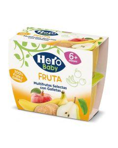 Tarrito de fruta y galleta hero pack de 4 unidades de 100g
