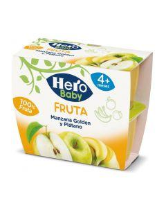 Tarrito de fruta, manzana y plátano hero pack de 4 unidades de 100g