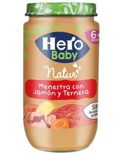 Tarrito de jamón, ternera y verduras hero 235g