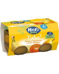 Tarrito de plátano, mandarina y pera hero pack de 2 unidades de 260g