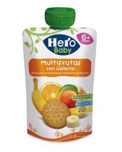Pouch multifruta con galleta hero 100g