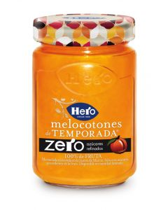Mermelada zero de melocotón de temporada hero tarro 285g