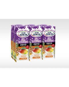 Bebida funcional de frutas y leche sin lactosa tropical don simón pack de 6 unidades de 200ml