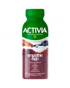 Smothie go fresa-arandanos-remolacha activia 250gr