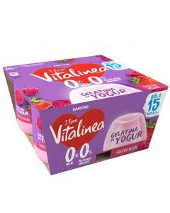 Gelatina frutos rojos vitalinea p-4 x120gr