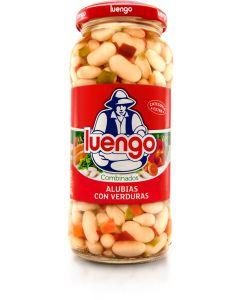 Alubias cocidas con verdura luengo tarro 570g