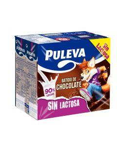 Batido sin lactosa cacao puleva pack de 6 unidades de 200ml
