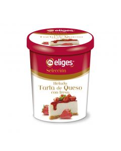 Helado tarrina tarta de queso con fresa ifa eliges 500ml