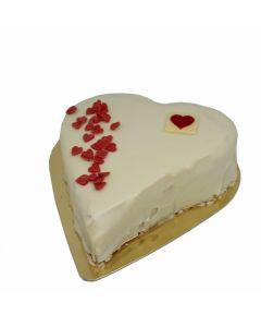 Tarta san valentin chocolate blanco 700gr