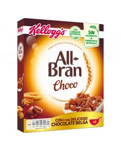 Cereales con chocolate all bran flakes kelloggs 375g