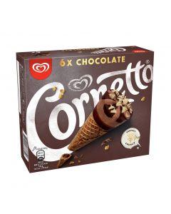 Helado cornetto chocolate frigo p6x90ml