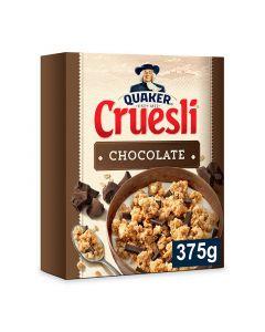 Cereales muesli con chocolate quaker cruesli 375g