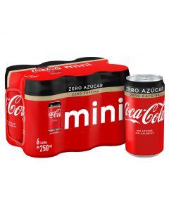 Refresco de cola sin azúcar y sin cafeína coca-cola zero zero 25cl