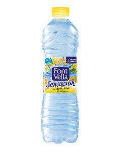 Agua mineral sabor limón font vella botella 1,25l