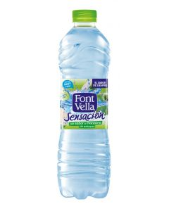 Agua mineral sabor manzana font vella botella 1,25l