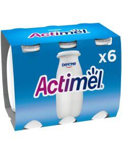 Bebida láctea natural actimel pack de 6 unidades de 100g