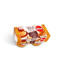 Flan de huevo dhul pack de 4 unidades de 110g
